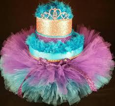 2 tier teal purple u0026 gold diaper cake w princess tiara
