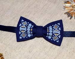 navy blue bowtie etsy