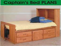 full size captains bed with bookcase headboard 9746