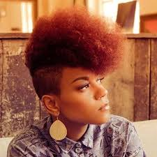mwahahwk hairstule done using kinky featured hairstyle mohawk curly by nature