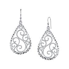 tear drop earrings sterling silver teardrop earrings jcpenney