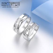 couples ring sets blue sweet rings unique weave x promise rings set