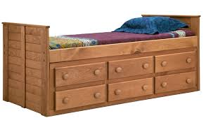 Twin Beds With Drawers Pine Crafter American Made Quality Furniture Captain Beds