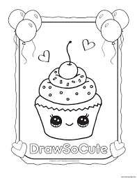cupcake coloring pages to print cupcake draw so cute coloring pages printable