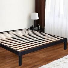 Metal Bed Frame With Wooden Slats Granrest 14 Inch Dura Platform Metal Bed Frame With Wood Slat
