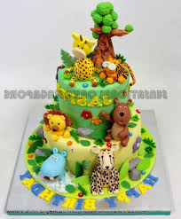 birthday cake forest theme decorating of party
