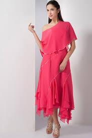 tea length off the shoulder bridesmaid dresses plus size