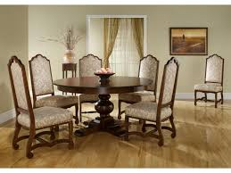 canadel custom dining customizable round table set with 6 chairs