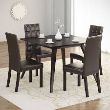 shop corliving atwood cappuccino dining set with square dining