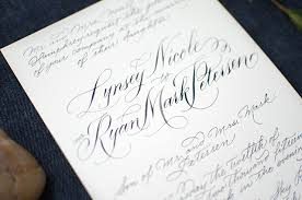 calligraphy for wedding invitations classic calligraphed wedding invitations