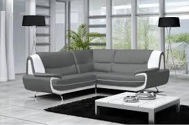 canape d angle simili cuir canapé d angle en cuir gris pas cher
