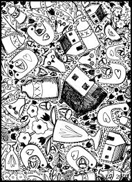 39 awesome and free printable doodle art coloring pages