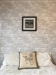 Peel And Stick Wallpaper by Loving This Feature Wall Made With White Brick Removable Wallpaper
