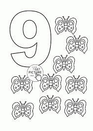 number 9 colouring sheet file classic alphabet numbers at