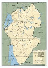 Rwanda Map Large Political Map Of Burundi And Rwanda With Roads And Cities