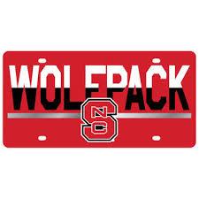 sdsu alumni license plate nc state wolfpack license plates carolina state