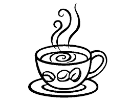 espresso coffee coloring page scrapbook food free printables