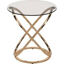 Glass Accent Table Chrome Glass Accent Table Gold Walmart Canada