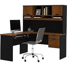 Black Computer Desk With Hutch Bestar Innova Corner Computer Desk Tuscany Brown Black 92420