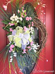 spring wreaths for front door perfectly pink roses wreath for spring 3 little greenwoods