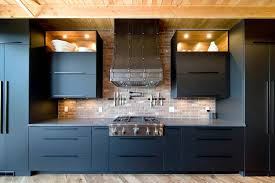 how to hang kitchen cabinets on brick wall 75 beautiful kitchen with gray cabinets and brick backsplash
