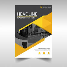 modern yellow business flyer template vector free download