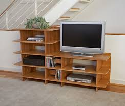 nice simple design diy tv shelf design that has black cabinet on