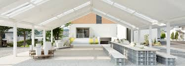 Patio On Guerra by Do Do Extend Porcelain Factory With Mosaic Patio Awning