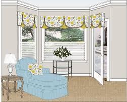 swing top treatment creates illusion of 3 sided bay window swing