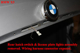 bmw x5 tail light removal bmw x5 how to replace the rear hatch switch