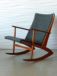 Rocking Chair Teak Wood Rocking Georg Jensen Teak Rocking Chair For Kubus At 1stdibs