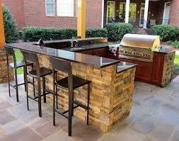 outdoor kitchen island u shape outdoor kitchen island with bar top and pergola built