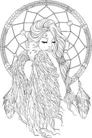 136 best dreamcatcher coloring pages for adults images on
