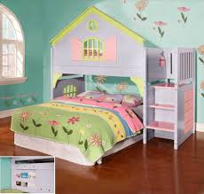 Girls White Twin Bed Bed Set Features A Cut Out Geometric Room Child Twin Bed Set