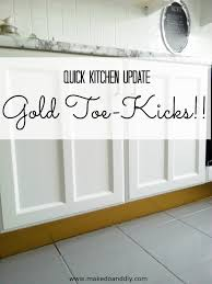 why do cabinets a toe kick gold toe kicks for realz make do and diy