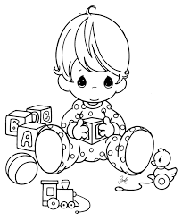 baby coloring pages with toys coloringstar
