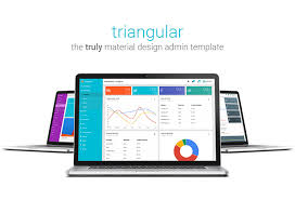 triangular the fully material design admin template