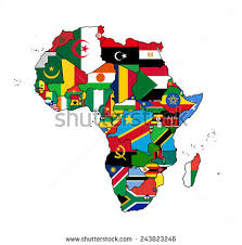 africa map all countries africa flag map all countries africa stock vector 243823246