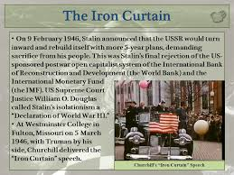 The Iron Curtain Speech The 20th Century International Relations Since Ppt Download