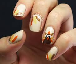 thanksgiving turkey nail art nail polish society november 2013