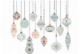 christmas ornaments clipart illustrations creative market