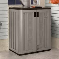 suncast wall storage cabinet platinum suncast base storage cabinet slate ebay