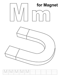 alphabet m coloring pages magnet free alphabet coloring pages m