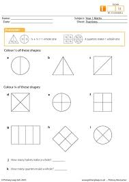 primaryleap co uk fractions worksheet