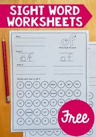 sight word practice for kindergarten and first grade mini books