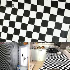 black white lattice pattern waterproof wallpaper for bathroom
