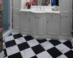 Black And White Checkered Tile Bathroom Download Black And White Marble Tile Floor Gen4congress Com