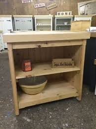 rustic wooden pine freestanding kitchen island handmade breakfast