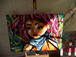 Mural Painting On Canvas by Graffiti Character Canvas Fresh Paint