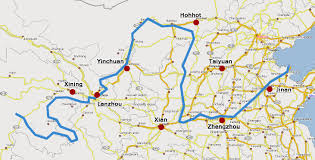 China Map Cities by Map Of Main Cities Along With The Yellow River My Flight From